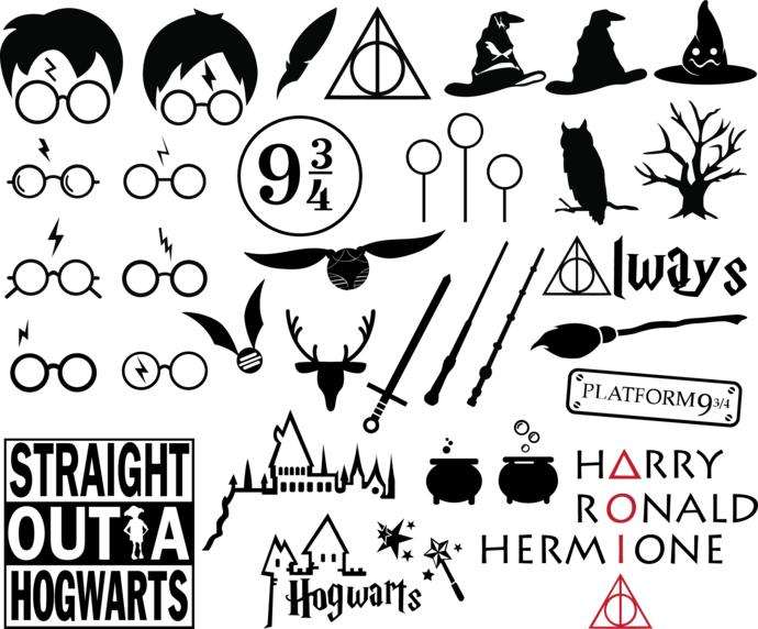 Harry P Clipart Transparent Png And Svg Images Harry Potter Silhouette Harry Potter Font Harry Potter Stencils