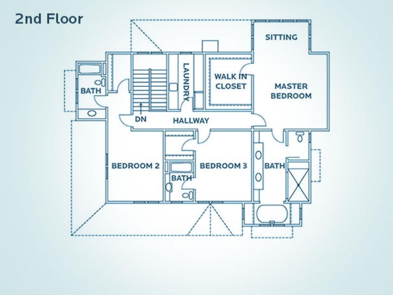 Floor Plan for HGTV Dream Home 2009 House floor plans