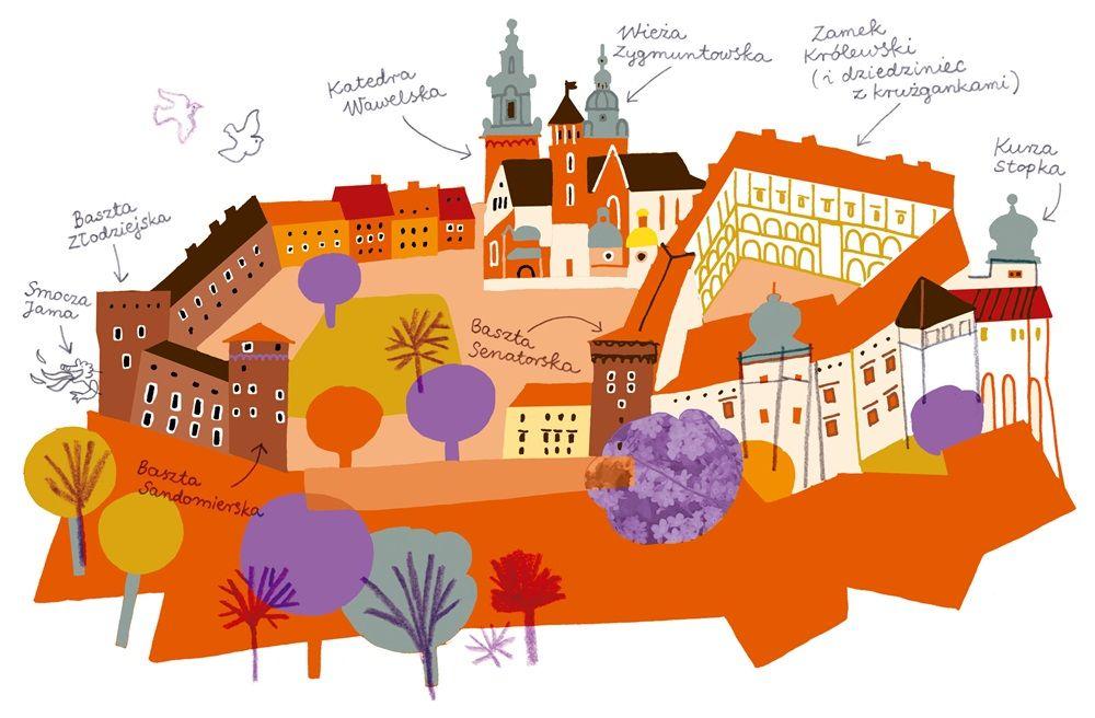Zapowiedz Krakow Dla Mlodych Podroznikow Illustration