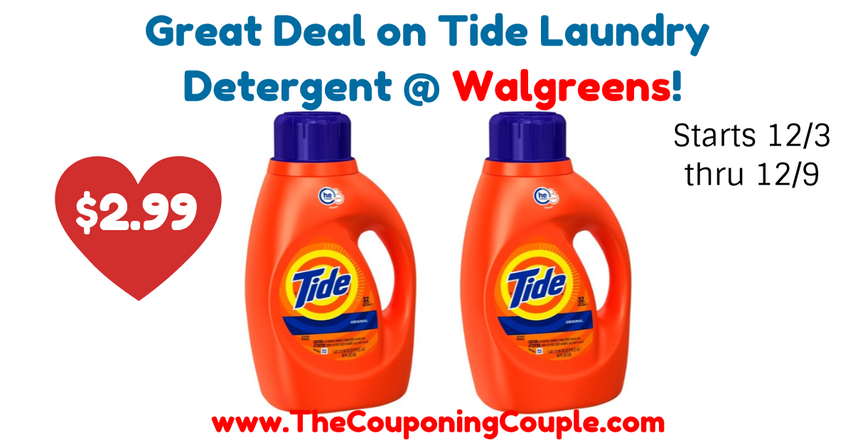 Great Deal On Tide Laundry Detergent Walgreens Starts 12 3