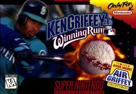 d5a088b47c Ken Griffey Jr.'s Winning Run (SNES, 1996)   Retro Box Art   Games ...