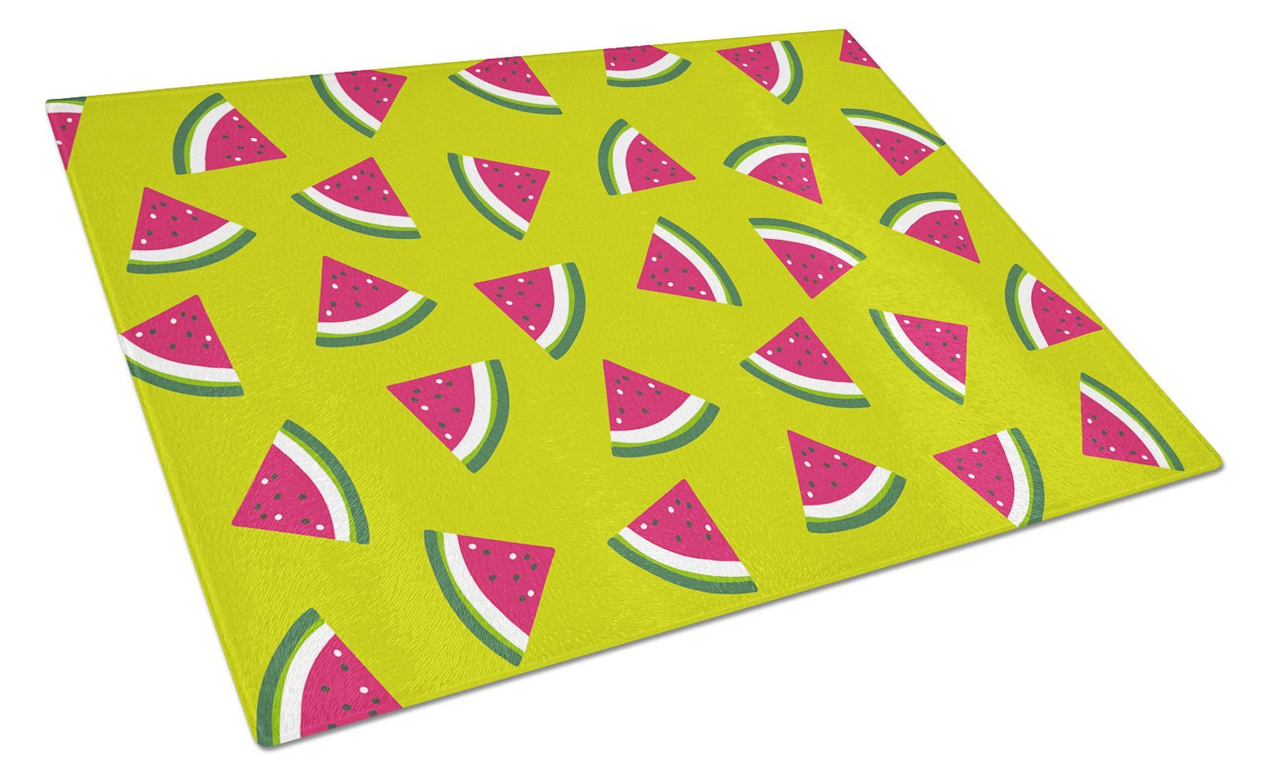 Watermelon on Lime Green Glass Cutting Board Large BB5151LCB