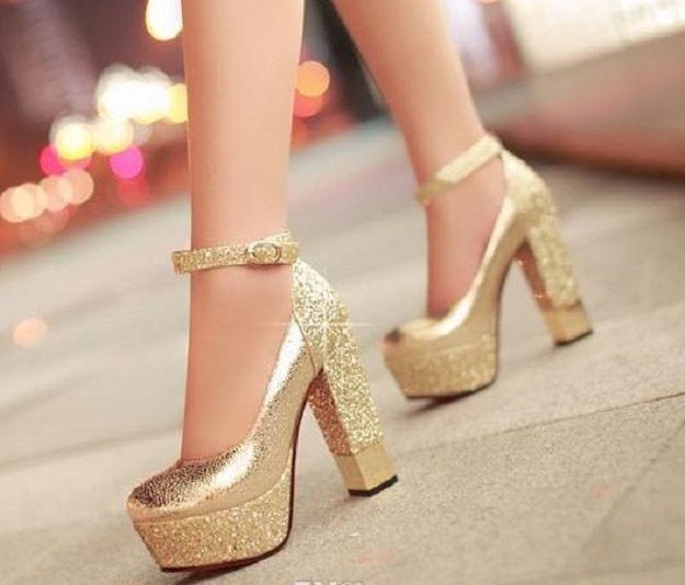 High heeled shoes Sparkle Bling Wedding Shoes For Women With