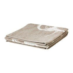 "SUMMELN bath towel, white, beige Length: 55 "" Width: 28 "" Surface density: 1.47 oz/sq ft Length: 140 cm Width: 70 cm Surface density: 450 g/..."