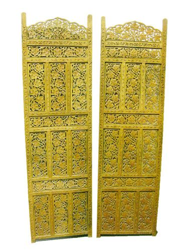 Home Decor Screen Panels Carved Teak Wooden Wall Art Ebay 699 00