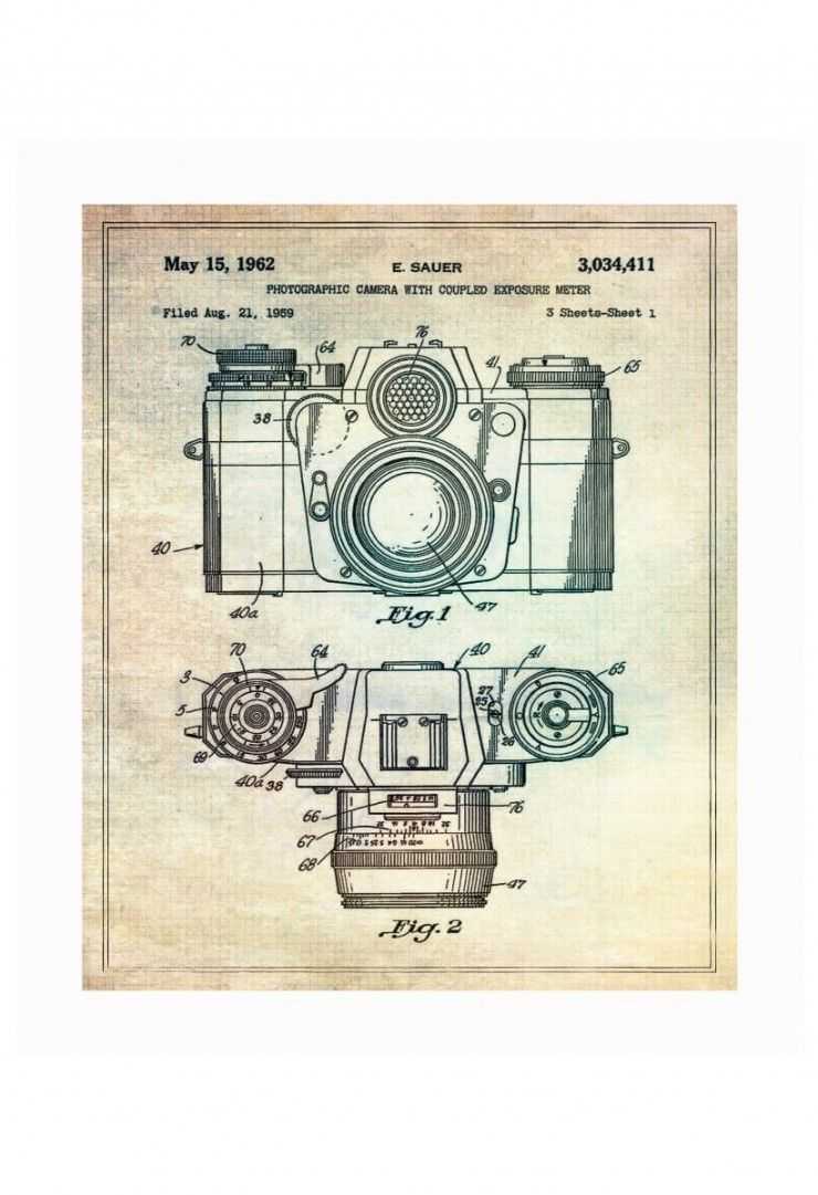 Vintage Patent Application Posters | Patent application, Cameras and ...