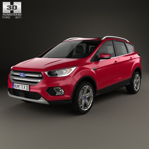 3d Model Of Ford Escape Titanium 2017 Ford Escape Ford Kuga Ford Kuga 2016