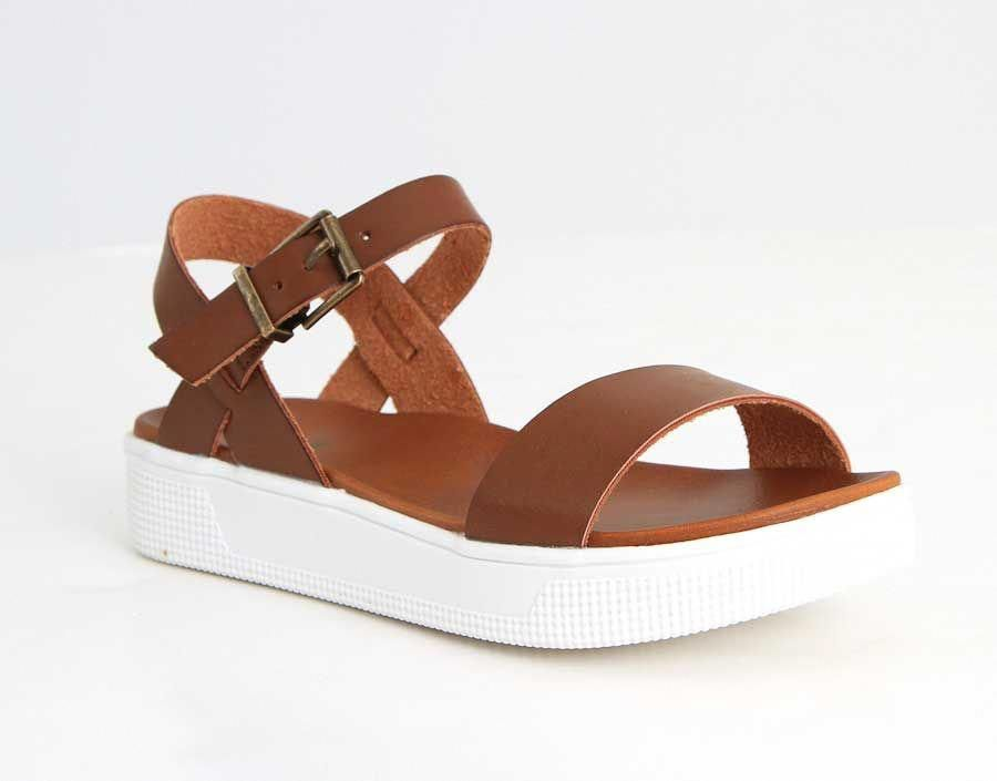 16aba2ccb63e1 Mia Shoes Abby Platform Sandals with Ankle Strap for Women in Cognac GG2664-215-COGNAC   flipflopsOutfit