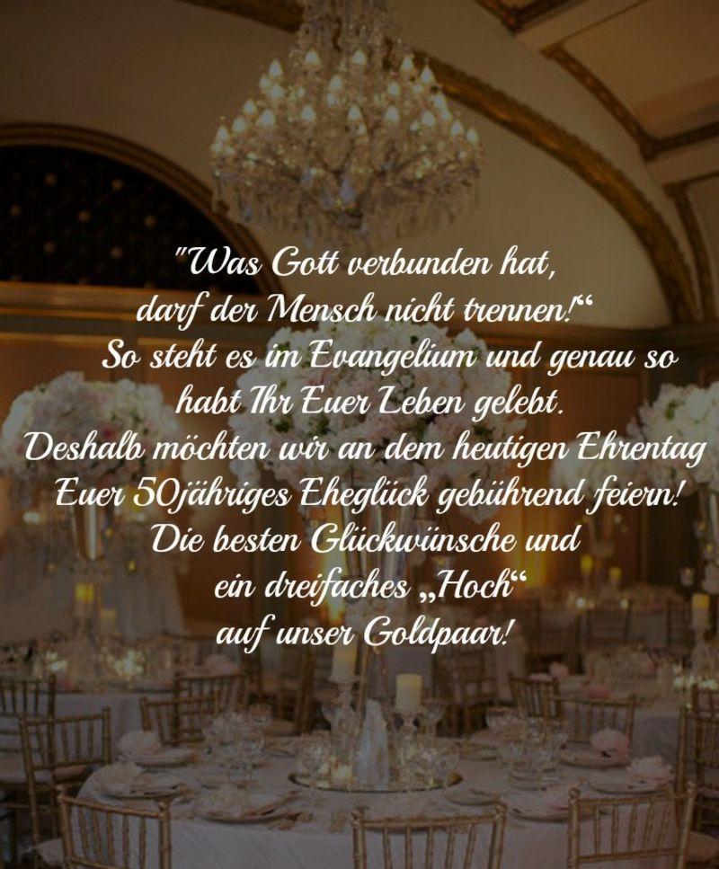 Wünsche Zur Goldenen Hochzeit Christlich Sprüche Zur