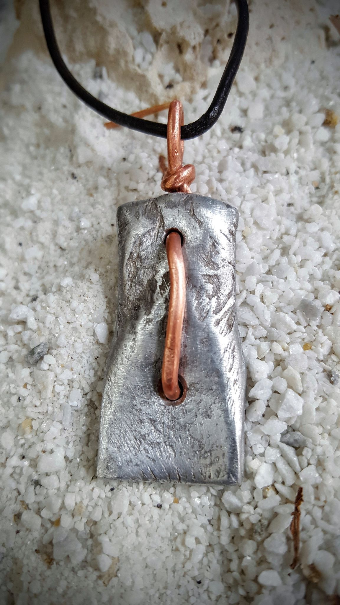 Forged aluminum necklace
