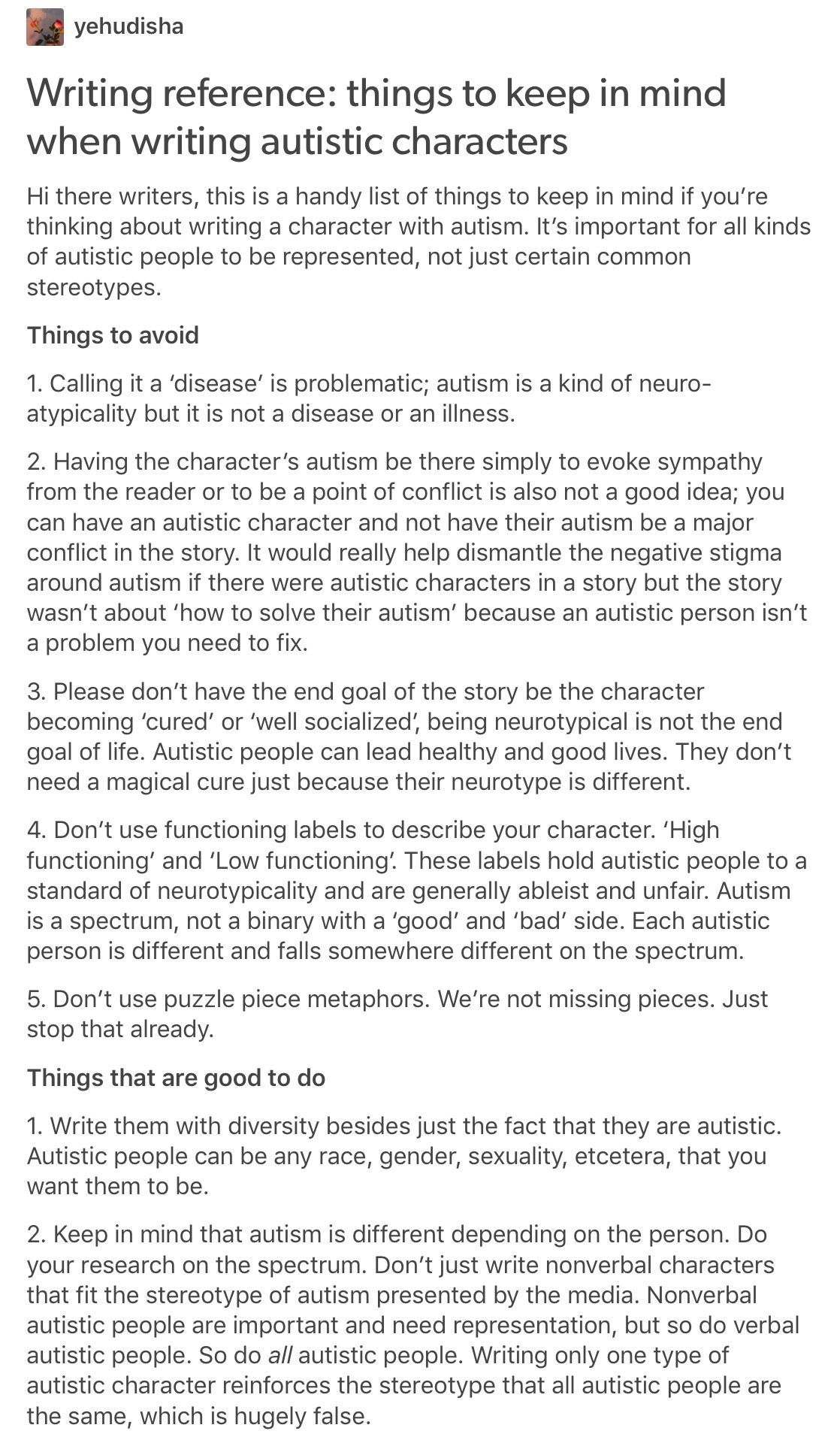 important to remember an autistic character is capable of doing  an autistic character is capable of doing anything a neurotypical character could