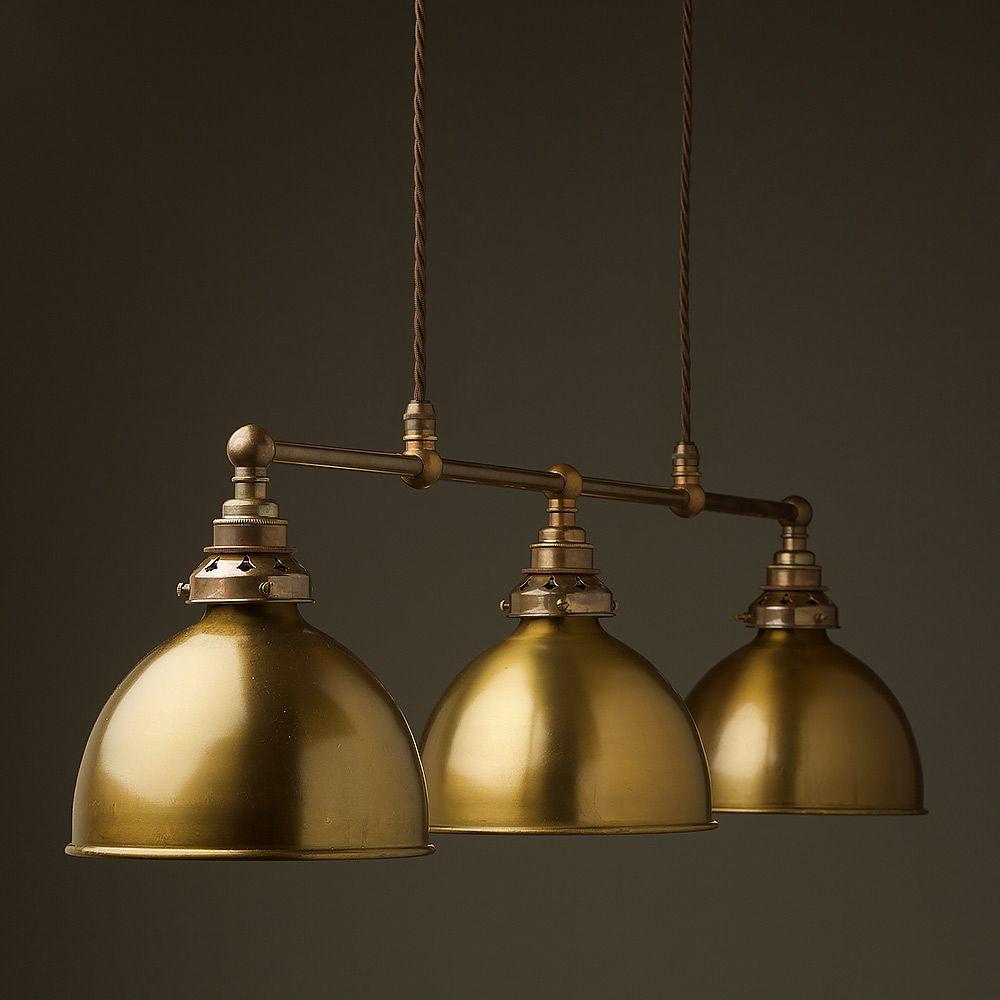 Antique Brass Edison Billiard Table Pendant Pool table