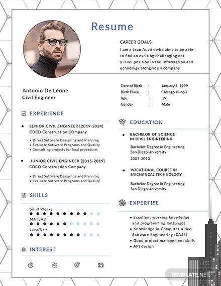 free civil engineer resume