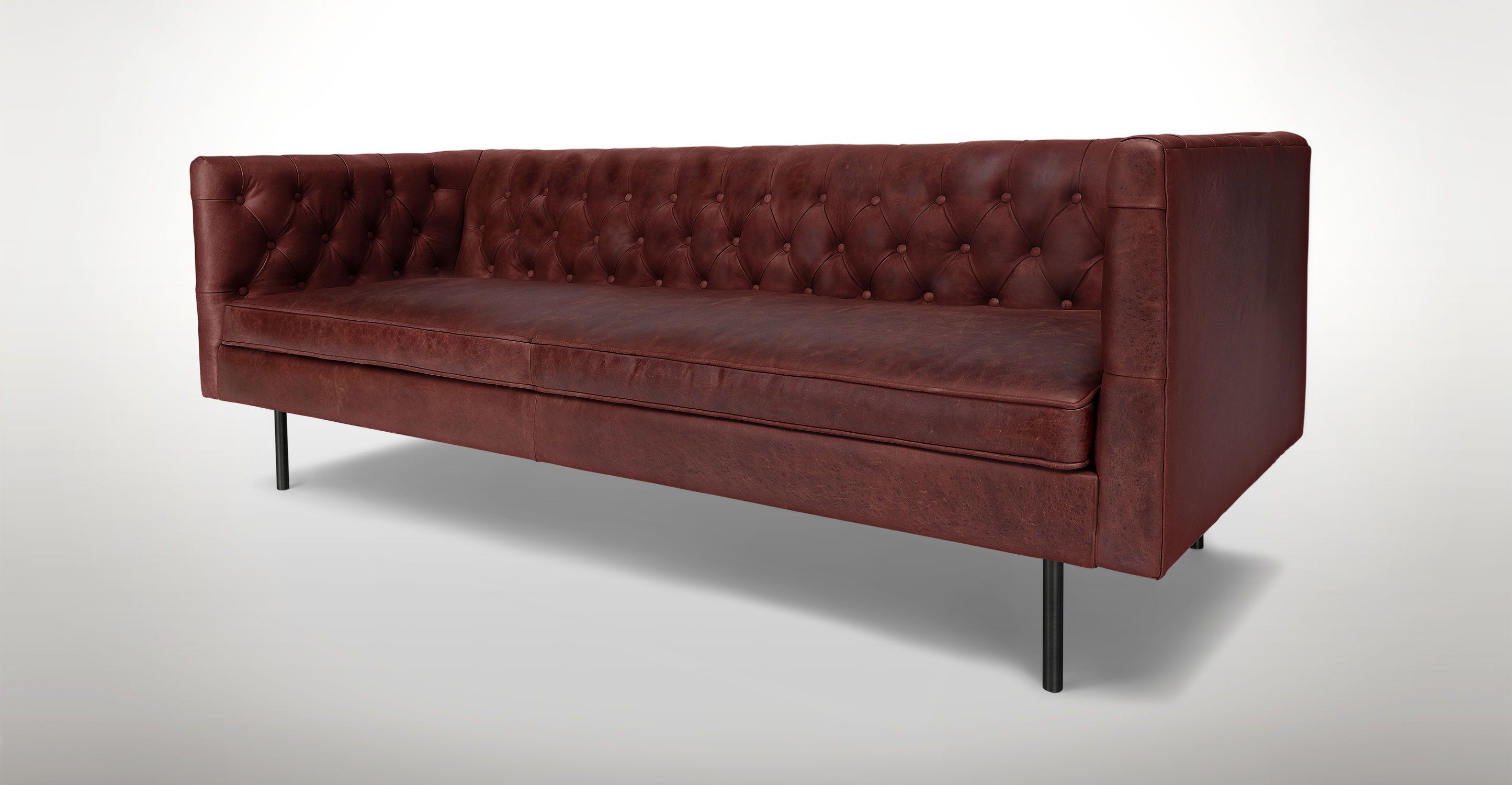 Chester Charme Oxblood Sofa Sofas Article Modern Mid