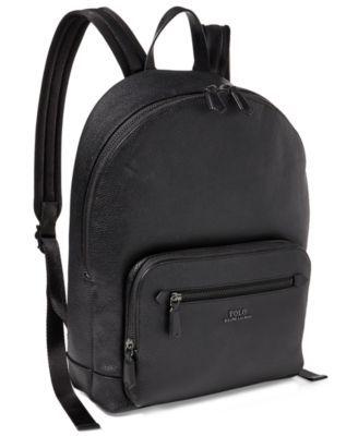 POLO RALPH LAUREN Polo Ralph Lauren Men s Pebbled Leather Backpack.   poloralphlauren  bags  leather  nylon  backpacks   7fdb4ec6a5f5e