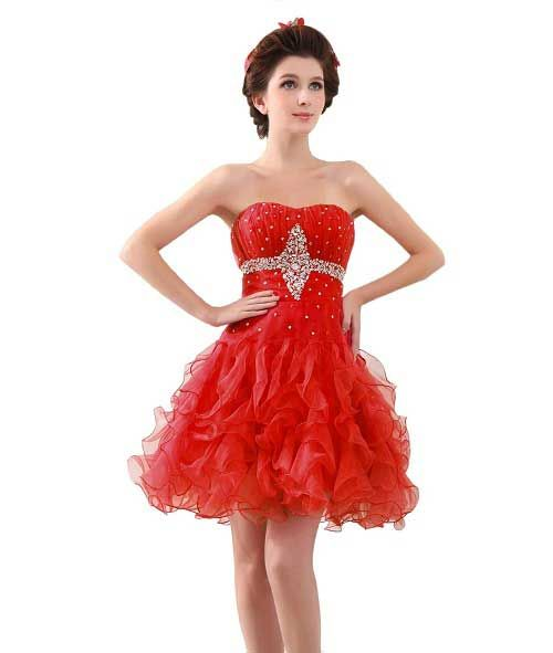 Short Red Homecoming Dresses with Straps Under 100