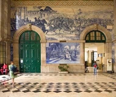 São Bento Station, Porto, #Portugal - World's Most Beautiful Train Stations (Travel + Leisure)