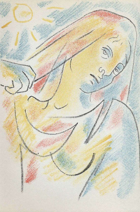 ORIGINAL Lithographie von 1957 Jean Cocteau