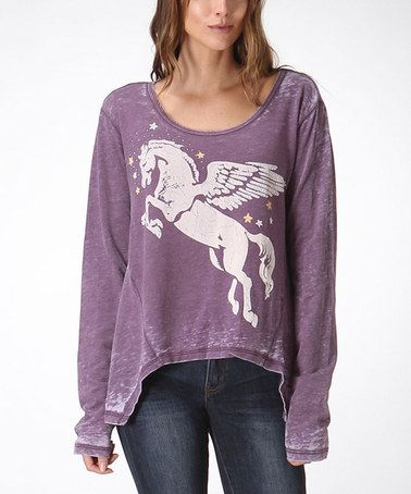 Look what I found on #zulily! Purple Pegasus Hi-Low Top #zulilyfinds