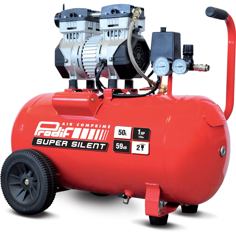 Compresseur D Atelier Silencieux Prodif 50 L 1 Cv Sil701ts 230 V Compresseur Atelier Cylindre
