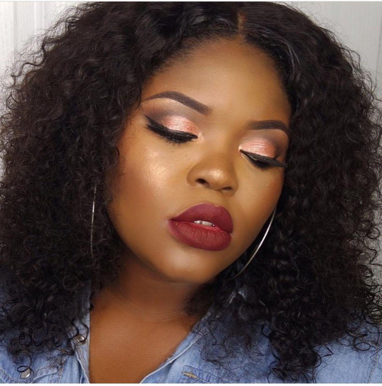 Makeup for black women (With images) Black girl makeup