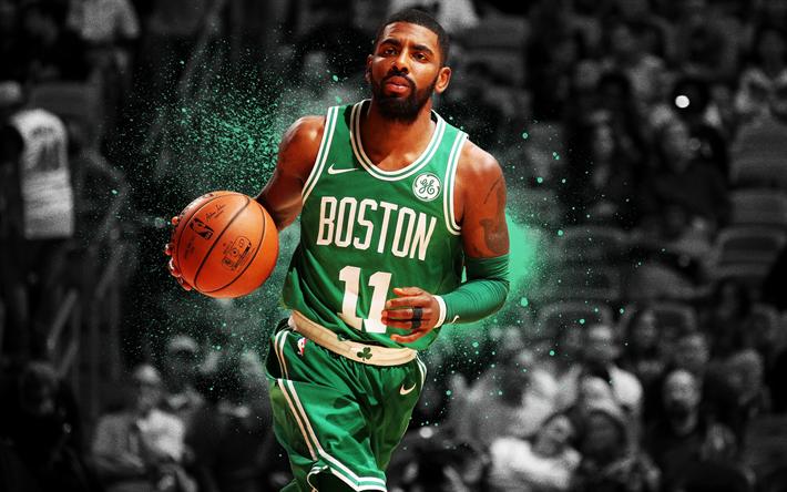 Download Wallpapers Nba Kyrie Irving Art Basketball Stars Boston Celtics Basketball Besthqwallpapers Com Boston Celtics Basketball Irving Wallpapers Kyrie Irving