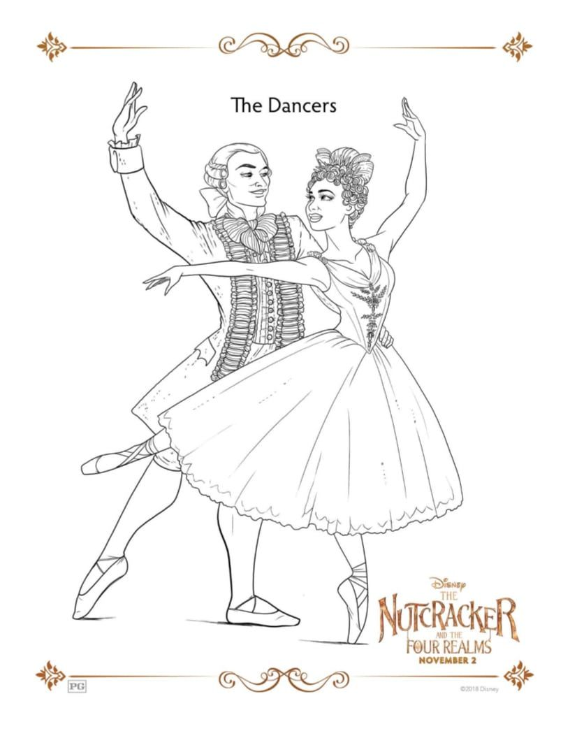 Disney Nutcracker And The Four Realms Misty Copeland Coloring Page Free Printable Ballerina Coloring Page Great For A Bal Malvorlagen Ausmalen Kritzeleien