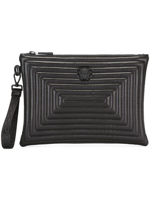 f90977cfce16 VERSACE Medusa Labyrinth Clutch Bag.  versace  bags  shoulder bags  clutch   lining  leather  hand bags