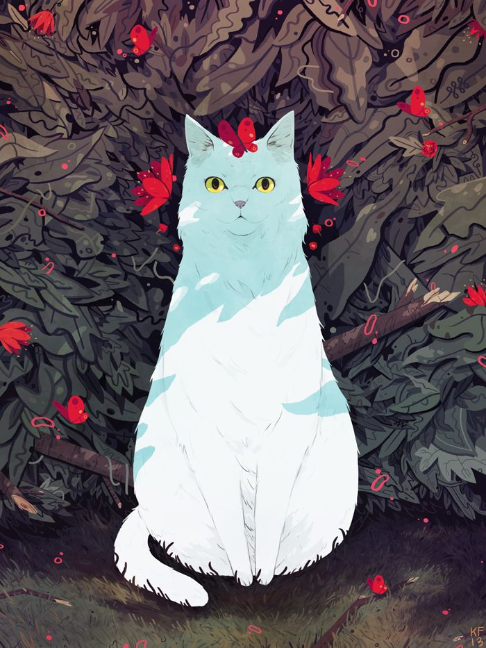 deskhermitrecords:  This week's contribution is by Kyle Fewell, an illustrator from New York who probably draws some of the best cats on the...