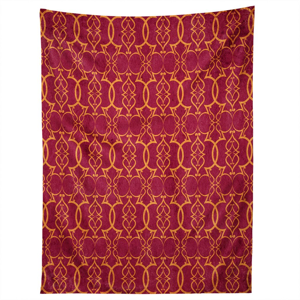 Arcturus Gold Trellis Tapestry | DENY Designs Home Accessories