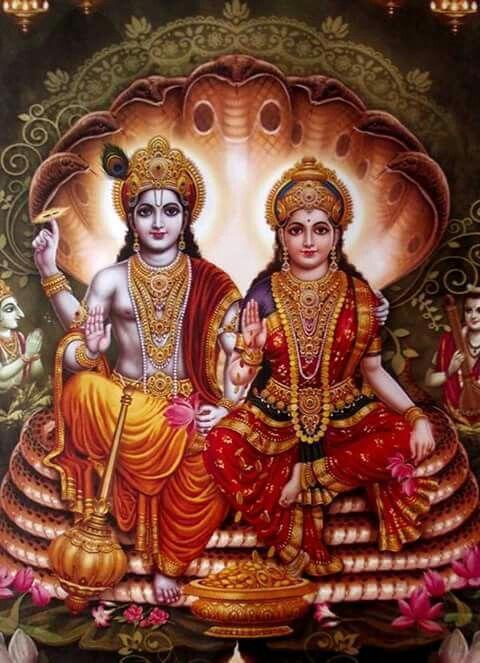 Most Beautiful Image Of Shrihari With Laxmi Maa Jai Sri Ram