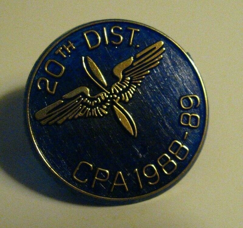 Army Air Force Lapel Pin Vintage CPA 1988 89 20th