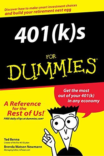 #Finance #Book: 401S For Dummies https://www.amazon.com/401-k-Dummies-Ted-Benna/dp/0764554689%3FSubscriptionId%3DAKIAI72JTXNWG65ZO7SQ%26tag%3Dfnnc-20%26linkCode%3Dxm2%26camp%3D2025%26creative%3D165953%26creativeASIN%3D0764554689