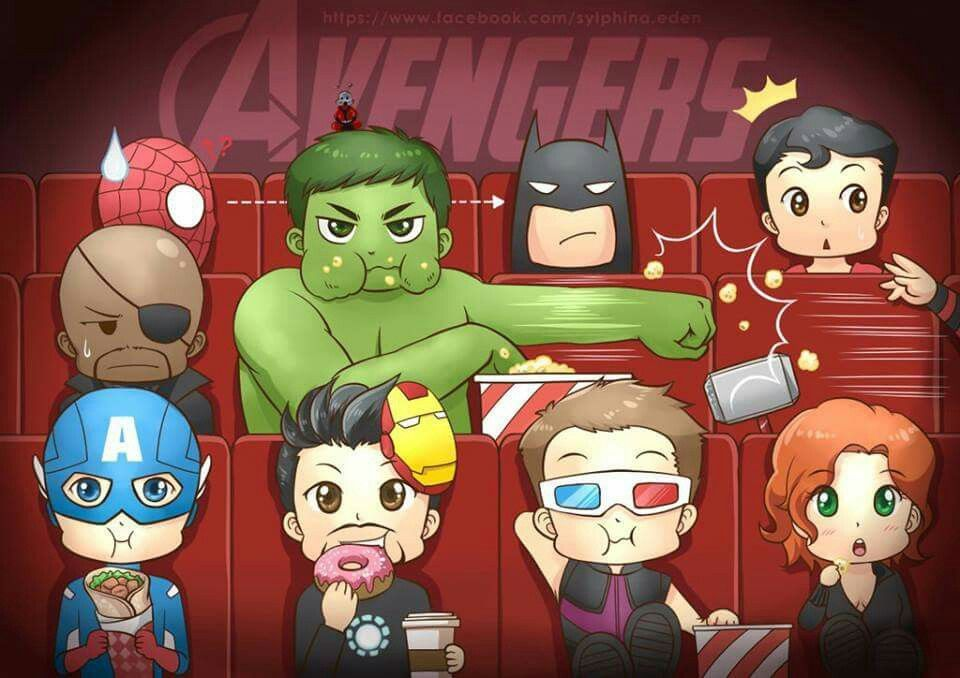 Look at spidey and tony typically donuts. Checkout Cap! Shawarma?!