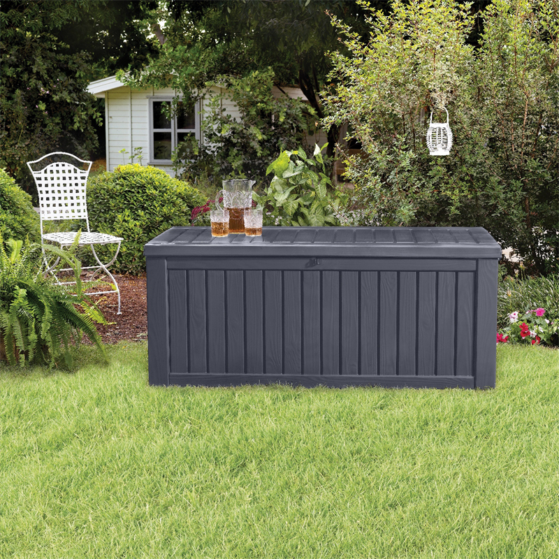 Keter 570l Rockwood Storage Box Patio Storage Outdoor Deck Storage Box Outdoor Storage Solutions