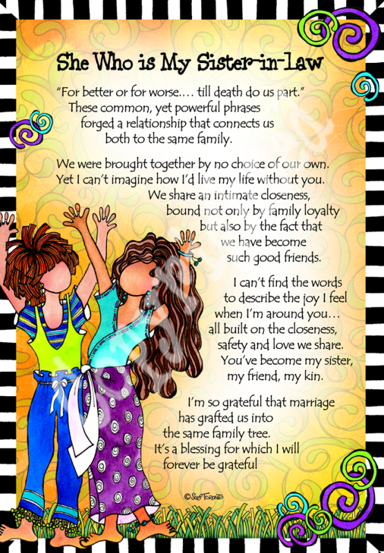F134 - Sister in Law – 8x10 Gifty Art 1   Sister birthday ...