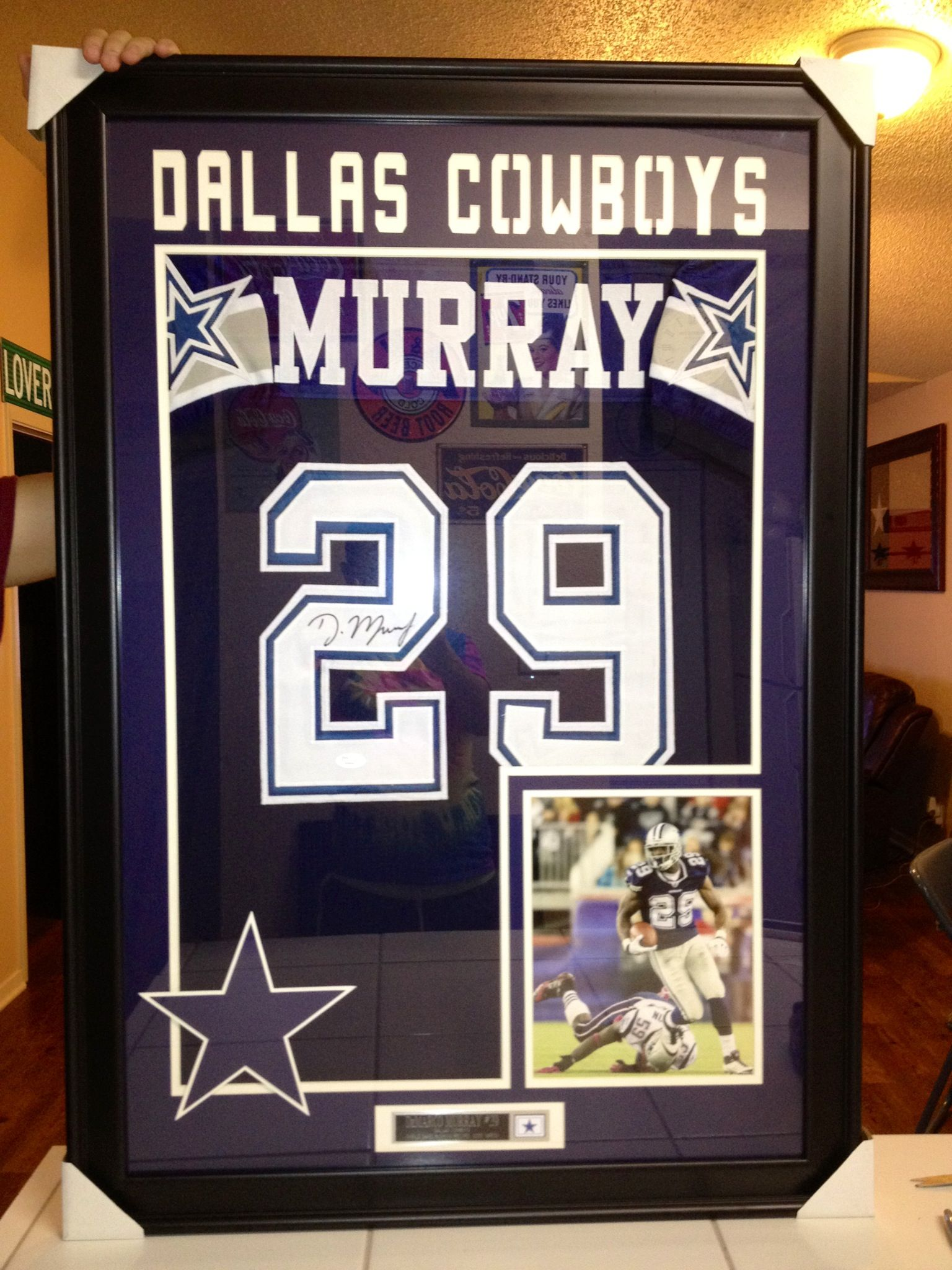 Demarco Murray autographed, JSA certified & framed jersey FOR SALE ...