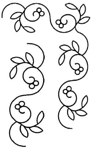 BERRY VINE BORDER STENCIL | Quilting - Borders & Bindings ... : quilting border stencils - Adamdwight.com