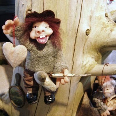 Handmade troll, made of cernit
