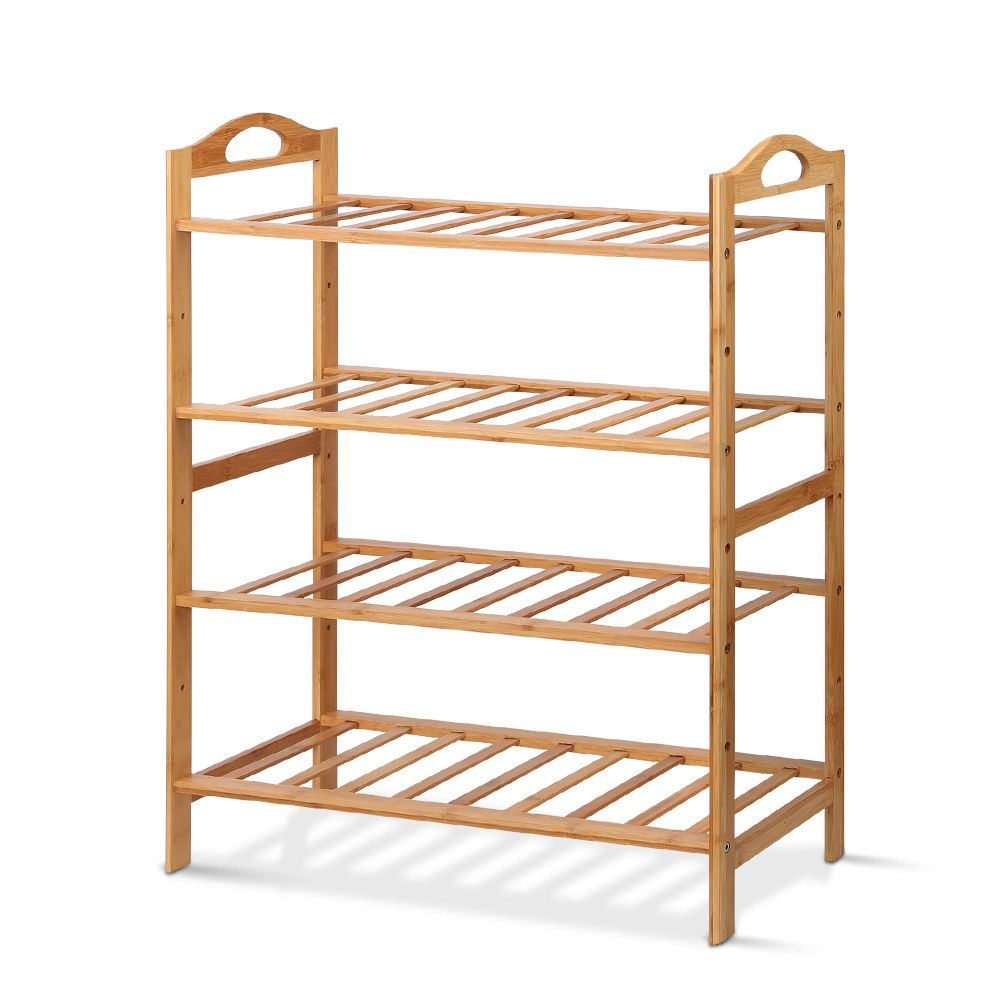 New Artiss Bamboo Shoe Rack Organiser Wooden Stand Shelf 4 Tiers Shelves Fast Free Shipping In 2020 Bamboo Shoe Rack Wooden Stand Bamboo Shoes