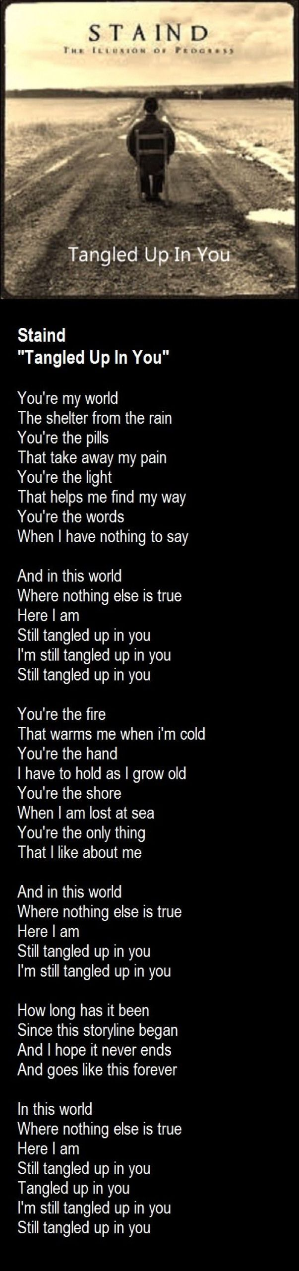 Staind - Tangled Up In You #musicquotes #music #quotes #soul