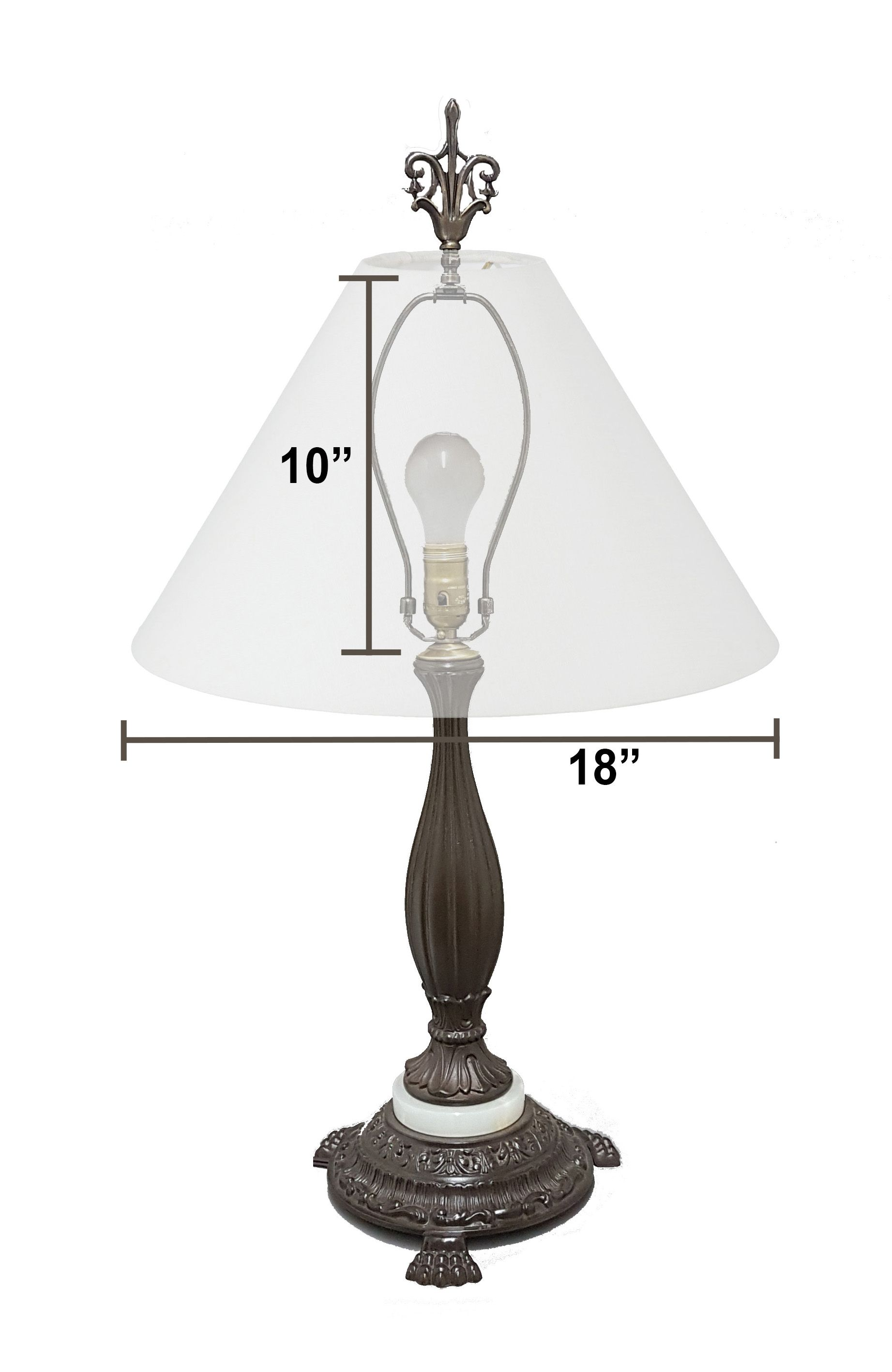 how to measure a lampshade for a floor lamp