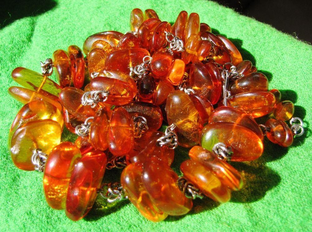 Antique 72 grams Honey Butterscotch Natural Baltic Amber Stone Necklace 老琥珀