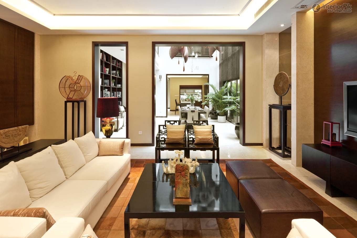 modern Chinese style   ... Chinese style living room decoration pictures, modern Chinese-style