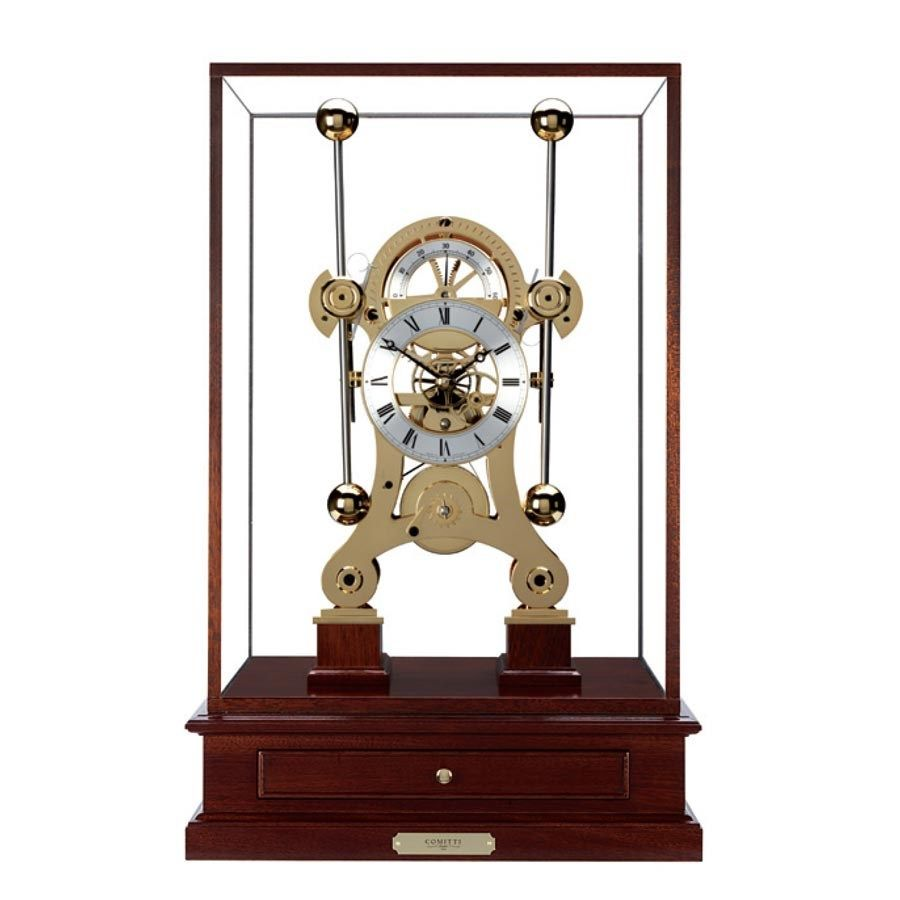 Based On The First Marine Chronometer Made By The Clock Maker John Harrison 1693 1776 This Extraordinary Instrument Feature Desk Clock Clock Handmade Clocks