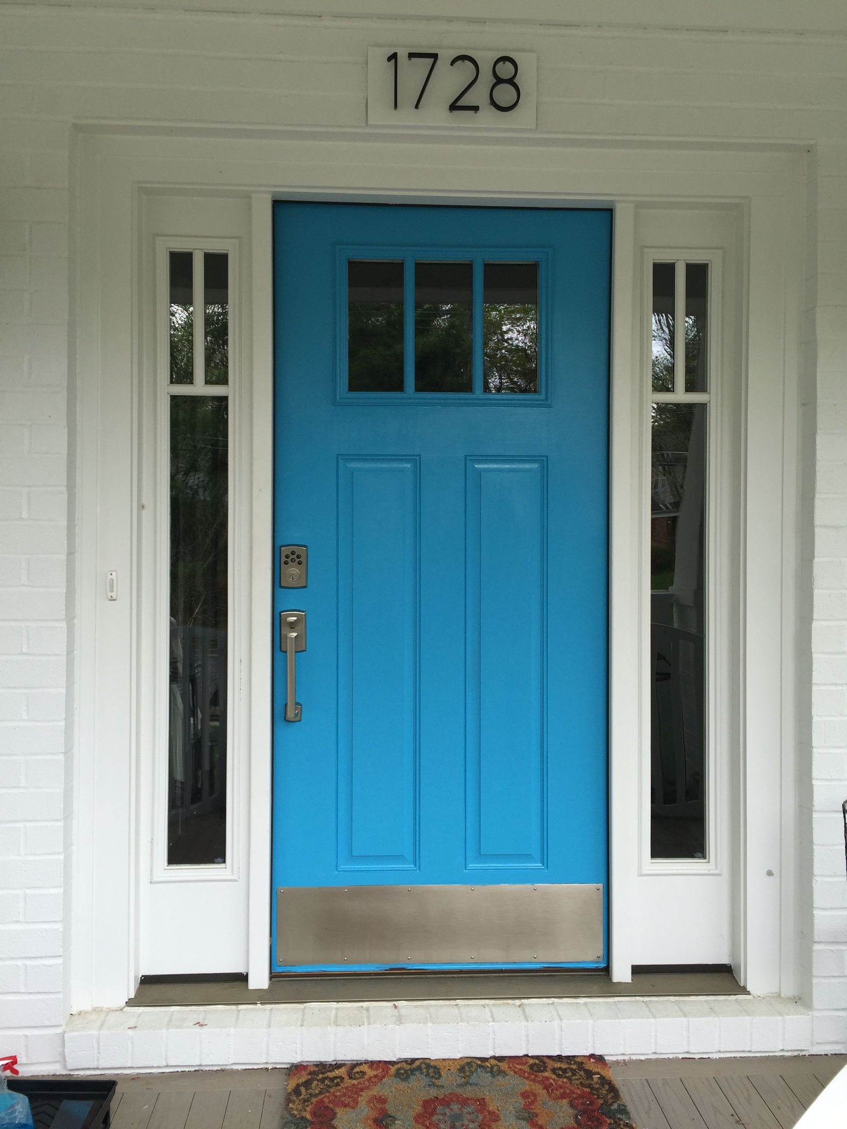 Benjamin moore front door paint colors - Turquoise Front Door Benjamin Moore Yosemite Blue