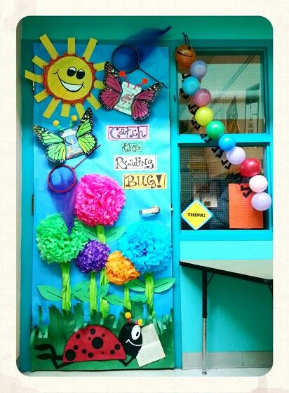 Reading Classroom Door Decorations : Catch the reading bug classroom door decoration so