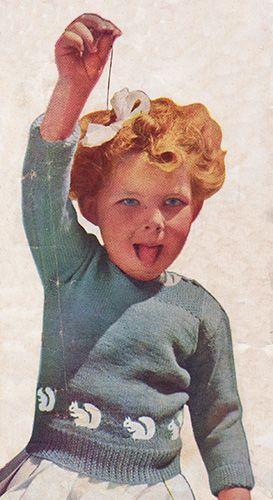 Bushy Tails Toddler Jumpersweater Free Knitting Pattern Children