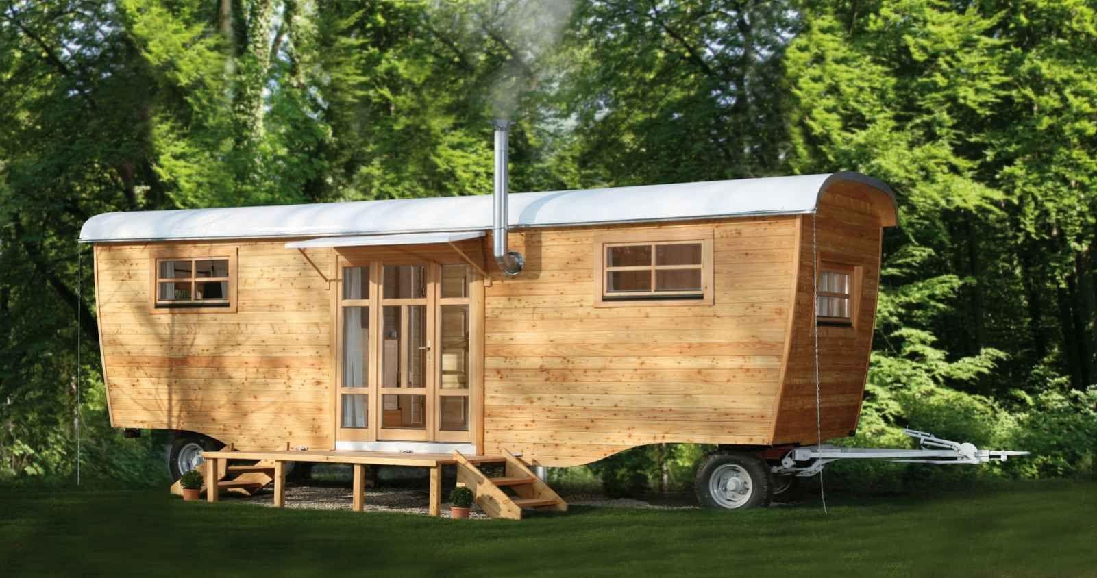 Hauswohnwagen Basic Aus Holz Von Wohlwagen Haus Wohnwagen
