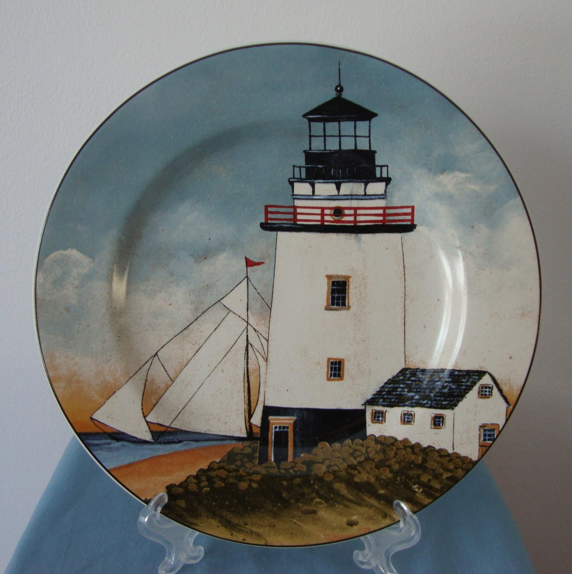 David Carter Brown BY THE SEA Lighthouse Plate Oneida & David Carter Brown BY THE SEA Lighthouse Plate Oneida | Do the ...